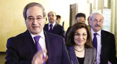 Une délégation gouvernementale syrienne à Moscou pour des entretiens.