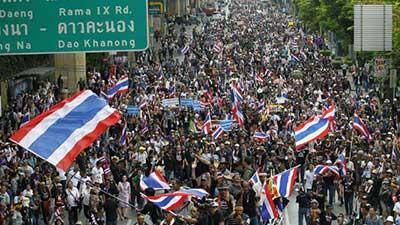 Les manifestations s'étendent en Thaïlande.