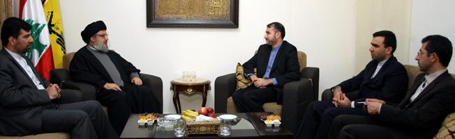 L'adjoint du ministre des AE iranien chez sayed Nasrallah