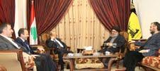 Le général Michel Aoun chez sayed Hassan Nasrallah