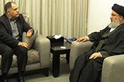 Le directeur de l'Agence de presse iranienne (IRNA) chez sayed Nasrallah