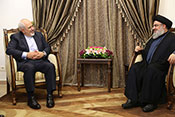 Le ministre iranien des AE chez sayed Nasrallah