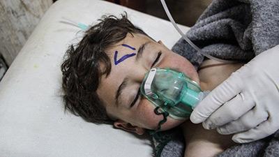 Casques blancs, assassinats d'enfants et attaque au gaz