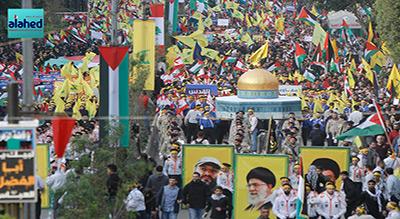 Manifestation monstre dans la banlieue sud de Beyrouth en solidarité avec al-Qods