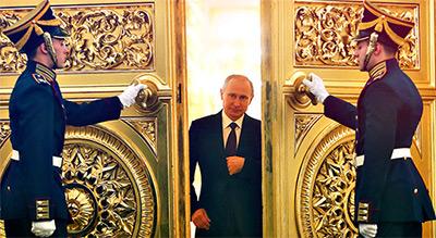 Le Tsar réélu président de la Russie pour un quatrième mandat