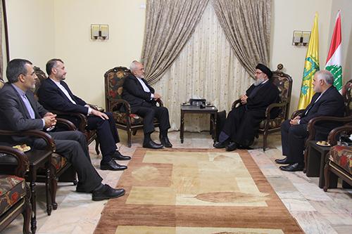Le ministre iranien des Affaires étrangères chez sayed Nasrallah