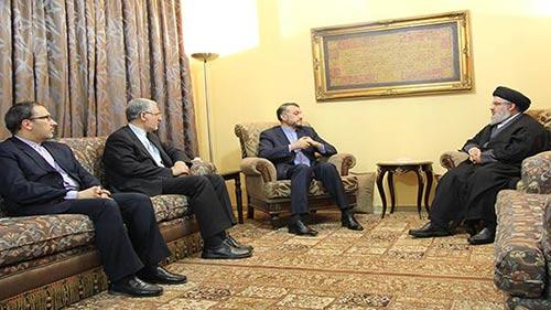 Le vice-ministre iranien des Affaires étrangères chez sayed Nasrallah.