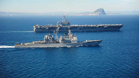 Tirs d'essai iraniens près de navires américains et français
