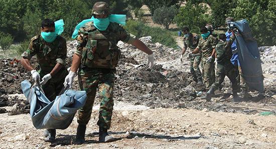 Alep: des charniers de civils découverts dans des quartiers libérés des terroristes.