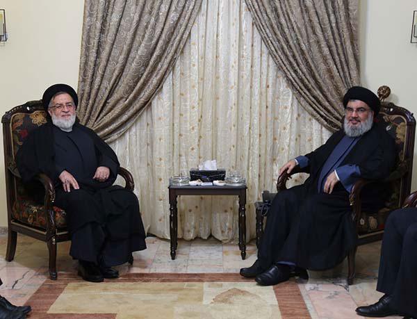 L'adjoint du président iranien chez sayed Nasrallah.