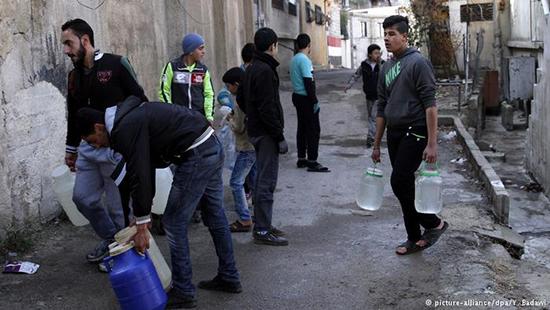 Les habitants de Damas privés d'eau potable pour le treizième jour
