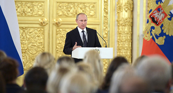 Poutine: des armées terroristes soutenues par certains pays à l'œuvre au Proche-Orient.