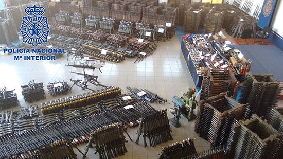 Plus de 10 000 armes destinées à des terroristes saisies par Europol en Espagne