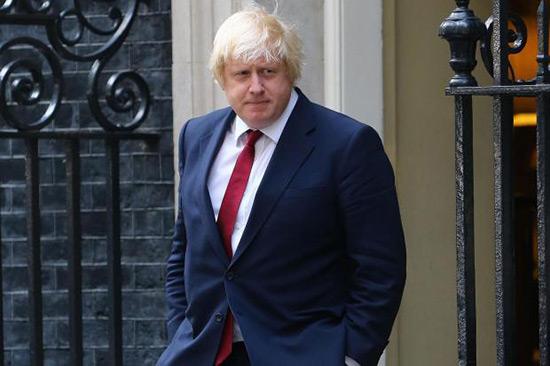 Boris Johnson en visite en Russie.