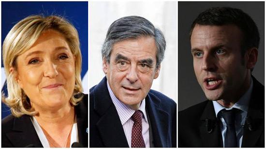 France/Présidentielle 2017: Le Pen devance Macron et Fillon.