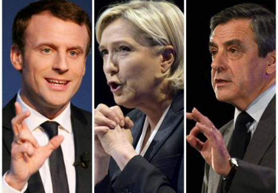 Présidentielle: Macron et Le Pen bien installés en tête, devant Fillon.