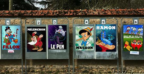 En France, Marne-La-Vallée prépare la présidentielle à sa façon.