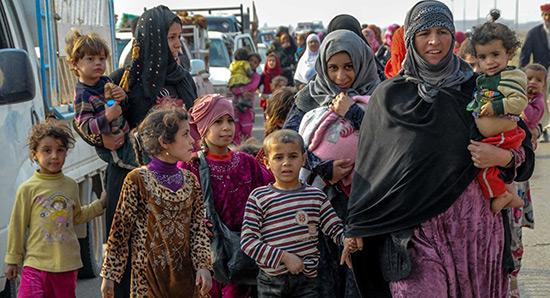 Réfugiés de Mossoul-Ouest: «L'aide humanitaire n'arrive pas».