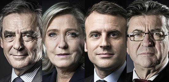 Macron et Le Pen en baisse, Fillon et Mélenchon en hausse.