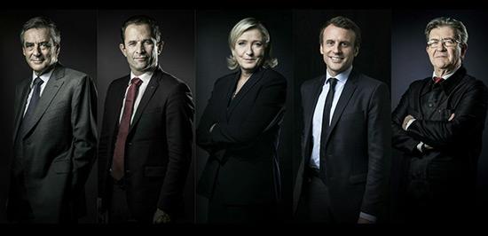 France/Présidentielle 2017: Macron et Le Pen baissent, Mélenchon rejoint Fillon.