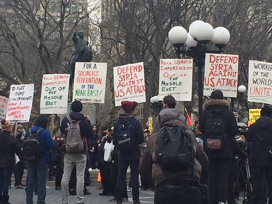 Les Américains descendent dans les rues pour protester contre les frappes en Syrie