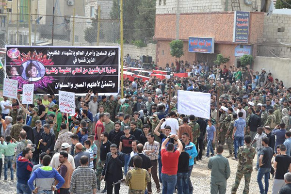 Syrie: funérailles massives des martyrs du massacre de Rachidine.