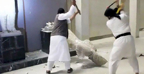 Des statues antiques détruites par «Daech» dans l'est de la Syrie