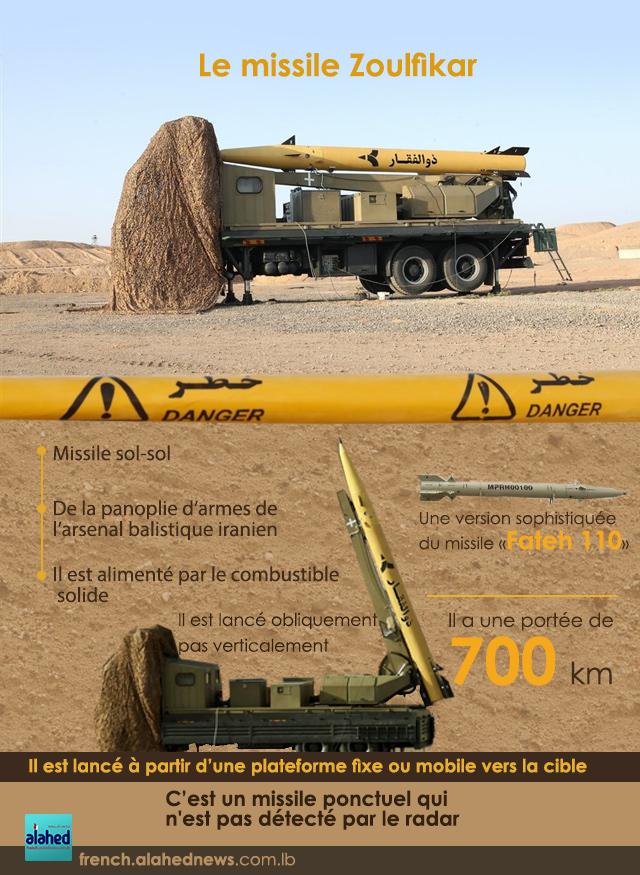 Les caractéristiques du missile tiré par l'Iran sur des bases de «Daech» en Syrie