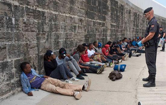 Forte hausse de l'arrivée de migrants en Espagne.