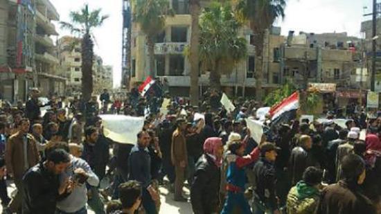 Ghouta orientale: Près de 3.000 personnes manifestent pour exiger le départ des terroristes