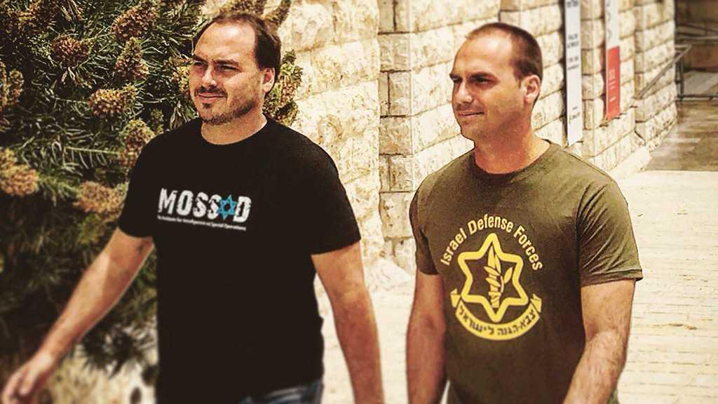 Des photos des fils de Bolsonaro en tee-shirt du Mossad et de l'armée israélienne refont surface