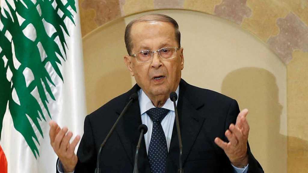 Aoun réitère sa demande d'un retour des réfugiés syriens sans attendre un règlement politique