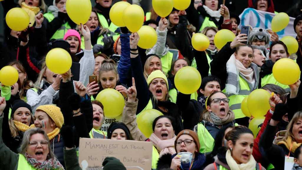 Des centaines de femmes «gilets jaunes» manifestent dans plusieurs villes de France