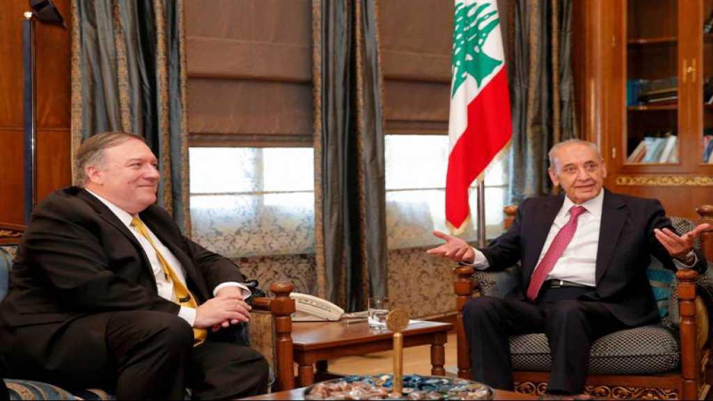 Berry à Pompeo: Le Hezbollah est un parti libanais