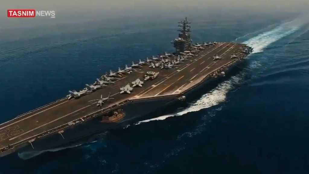 Une vidéo tournée par un drone iranien survolant un porte-avions US publiée