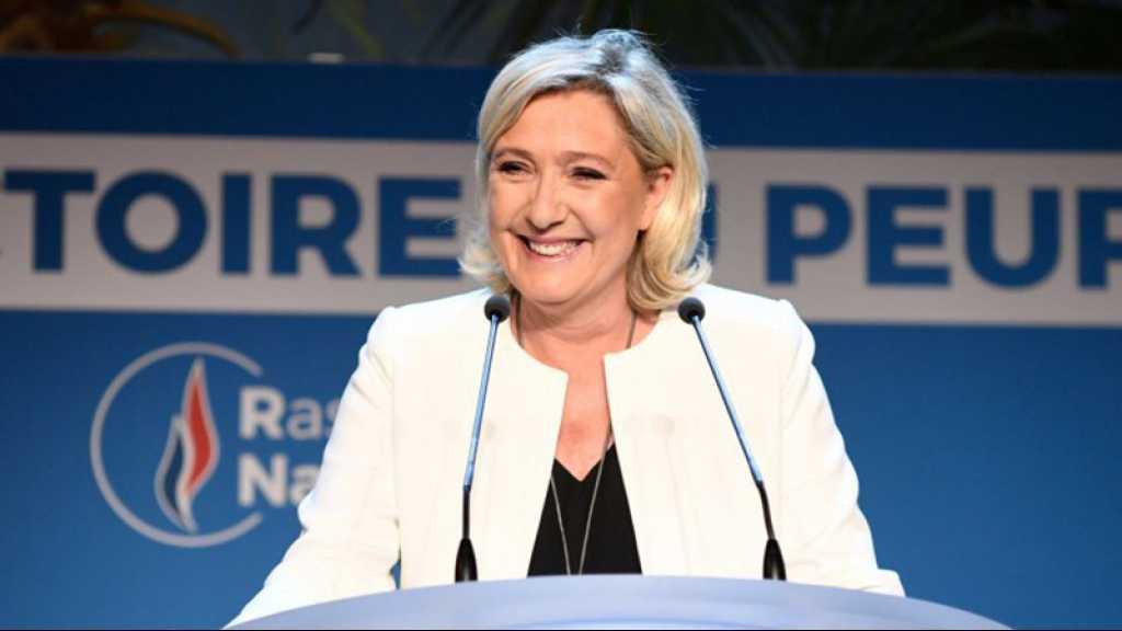 Européennes: le RN de Marine Le Pen devance la liste de Macron, poussée des eurosceptiques