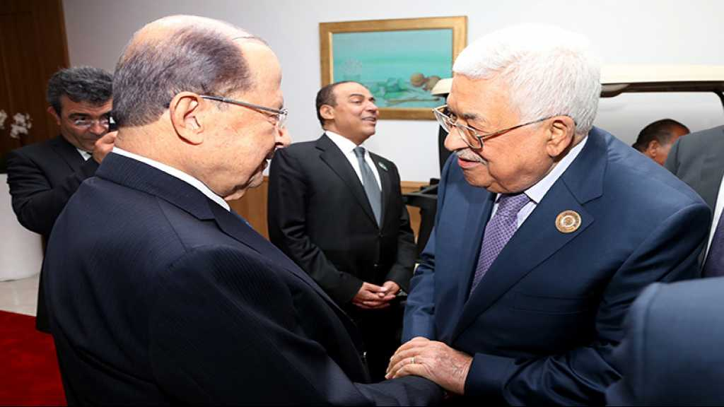 Deal du siècle: Abbas remercie Aoun pour ses positions «historiques et courageuses»