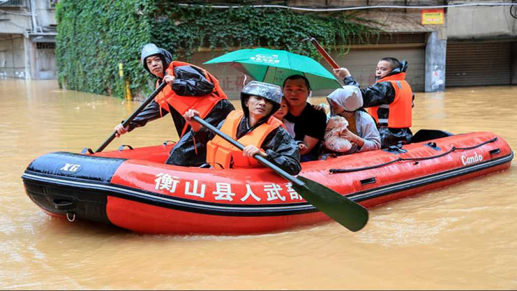 Intempéries en Chine, près de 80.000 personnes évacuées