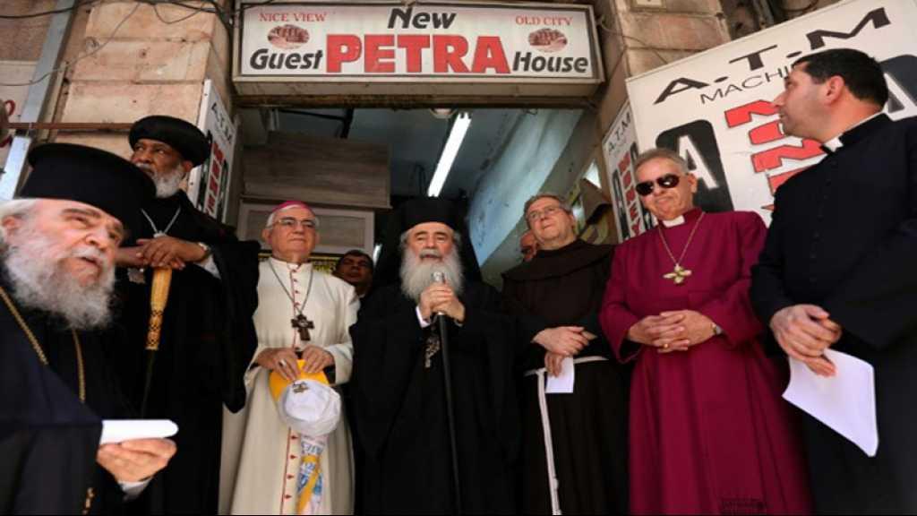 Des Eglises protestent contre l'acquisition de biens par des colons israéliens à al-Qods