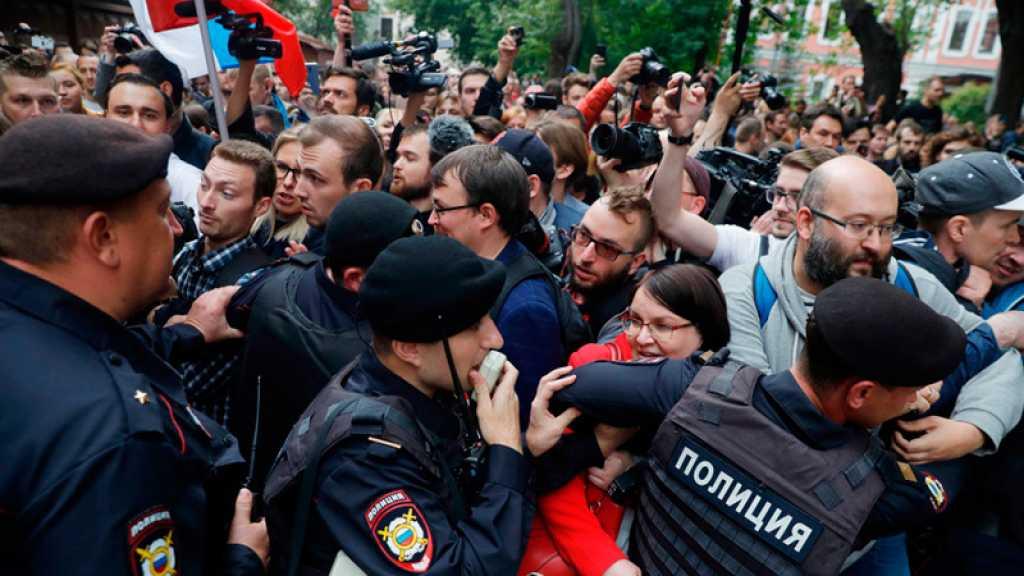 Russie : l'opposition manifeste à Moscou avec une forte présence policière