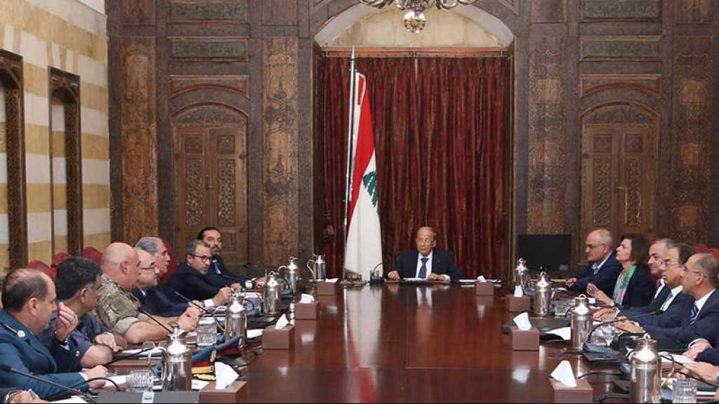 Le Liban a le droit de se défendre «par tous les moyens», dit le Conseil supérieur de la défense