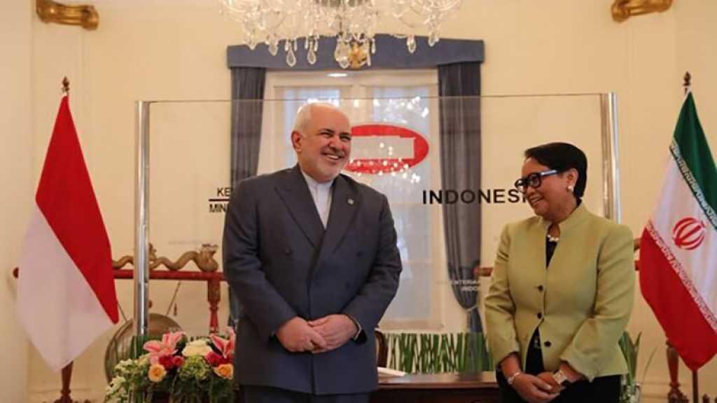 Zarif: l'Iran et l'Indonésie partage la même position sur la question palestinienne
