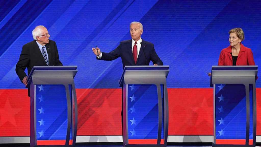 Présidentielle 2020 aux USA: le favori centriste Biden à l'offensive dans un vif débat démocrate