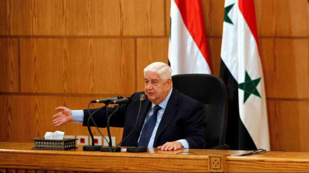 Mouallem: «La formation du Comité constitutionnel n'écarte pas le recours à l'option militaire»