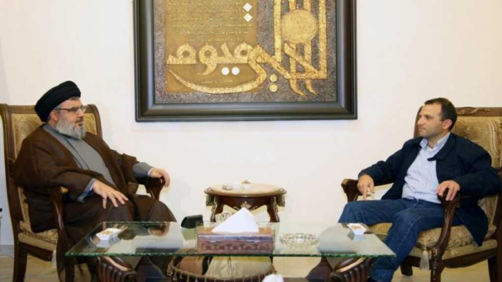 Bassil chez sayed Nasrallah: entente sur la stabilité économique, sécuritaire et les réfugiés
