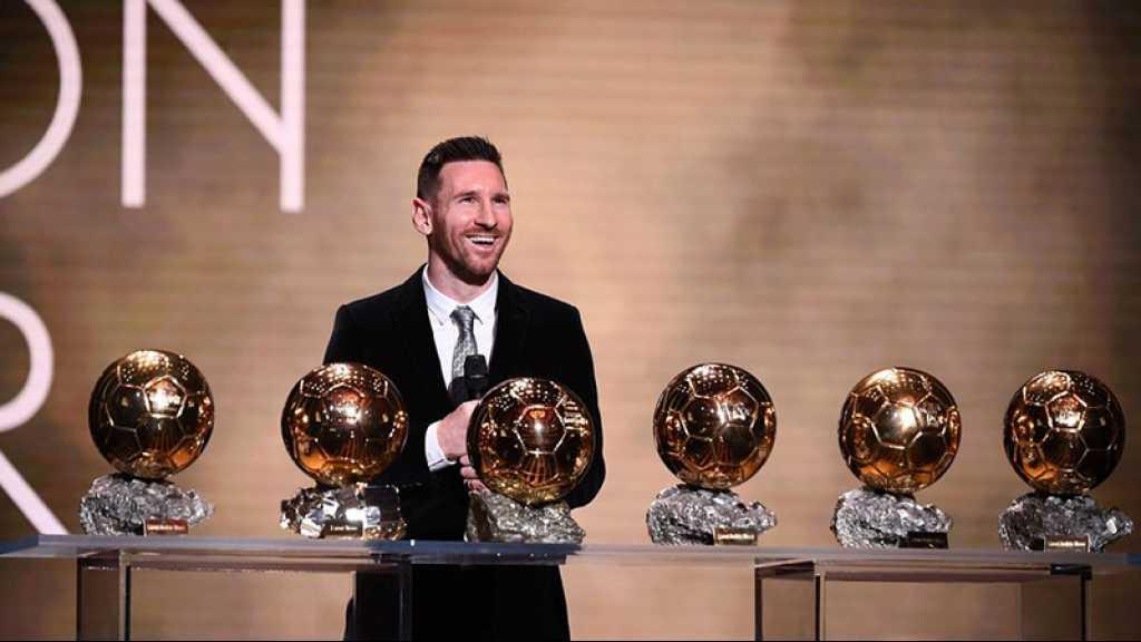 Football/Ballon d'Or: Messi sacré pour la 6e fois