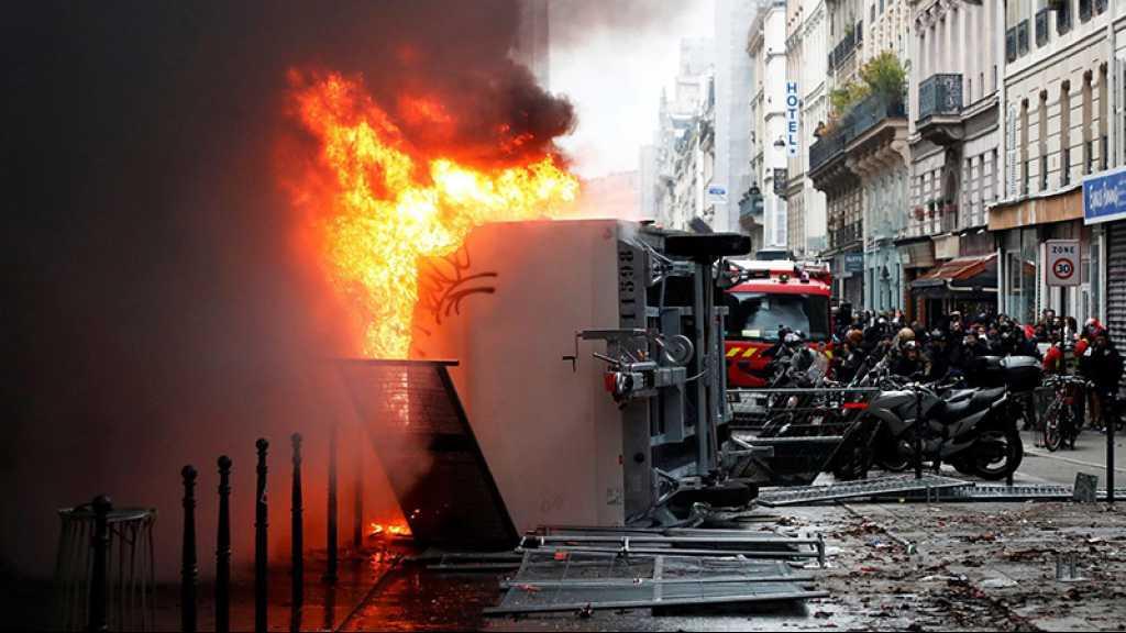 Tensions à Paris en marge de la manifestation contre la réforme des retraites