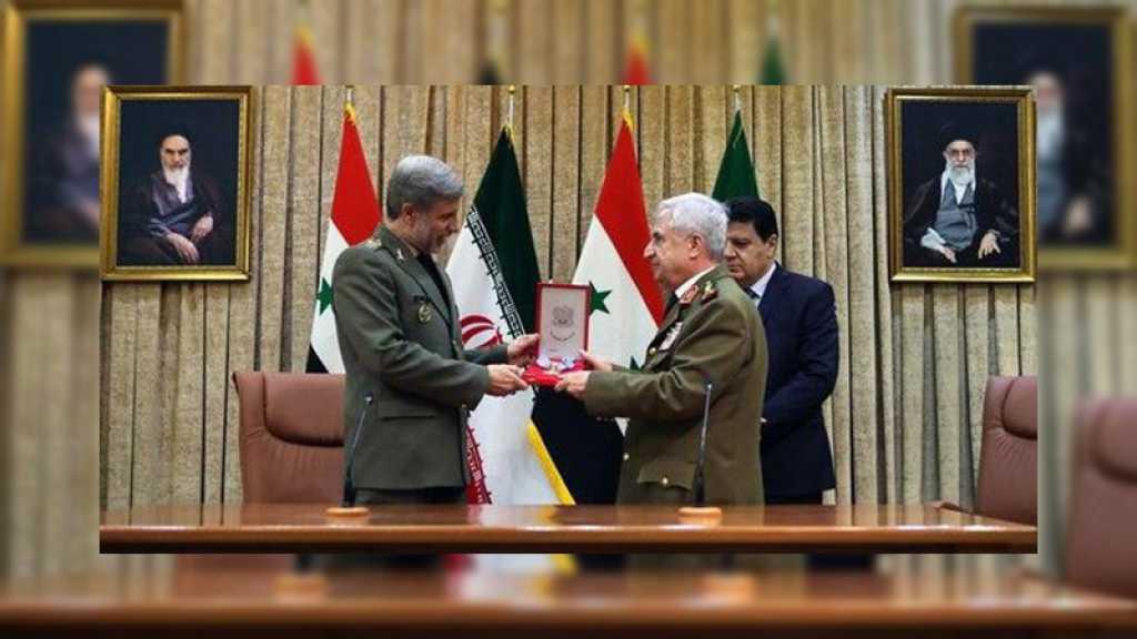 La médaille du héros de la République arabe syrienne décernée au martyr Qassem Soleimani