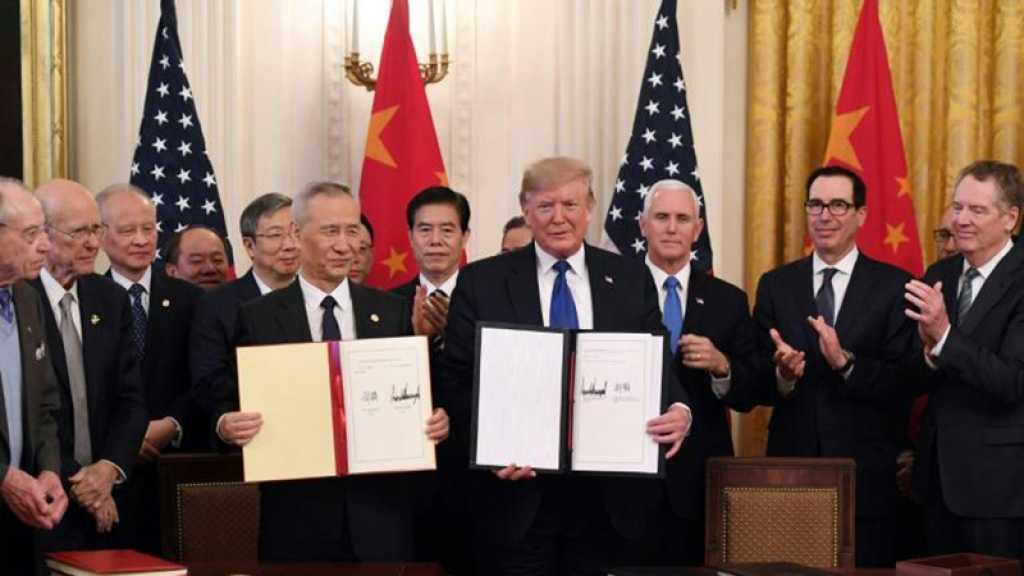 Trump signe un accord commercial avec la Chine, des problèmes de fond restés en suspens