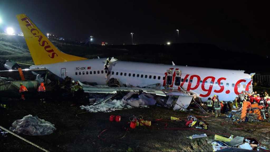 Turquie: un avion se brise en trois après son atterrissage, trois morts et 179 blessés
